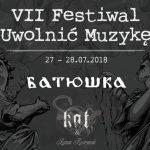 Festiwal Uwolnić Muzykę po raz siódmy. Zagrają Batushka, Kat i inni